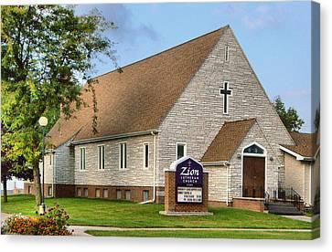 Zion Lutheran Church Of Ainsworth, Nebraska Canvas Print by Josephine Buschman
