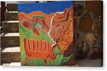 Zion Waterfall  Canvas Print by Don Koester
