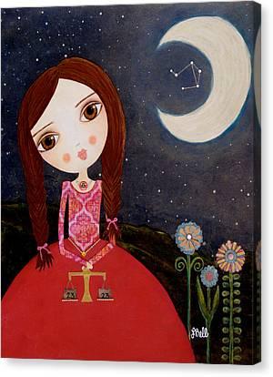 Zodiac Libra Canvas Print by Laura Bell
