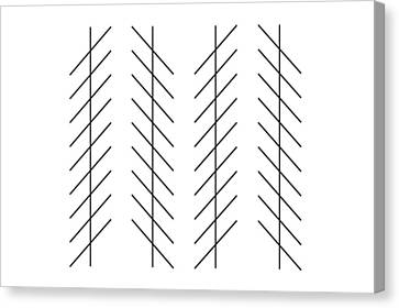 Zoellner Illusion Canvas Print by