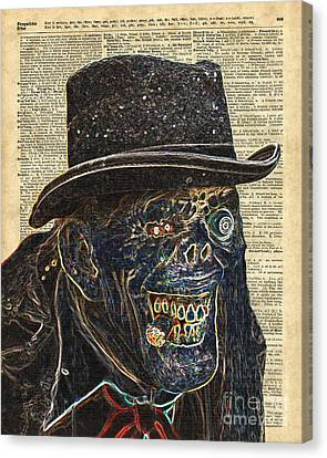Zombie Apocalypse,monster,walking Dead,ugly Halloween Creature  Canvas Print by Jacob Kuch
