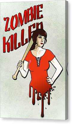 Zombie Killer Canvas Print by Nicklas Gustafsson