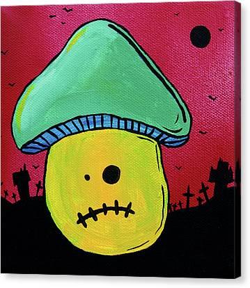 Zombie Mushroom 1 Canvas Print by Jera Sky