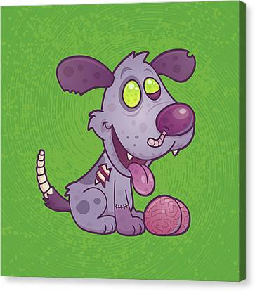 Zombie Puppy Canvas Print by John Schwegel