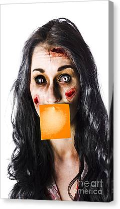 Zombie Woman Crying For Help Canvas Print by Jorgo Photography - Wall Art Gallery