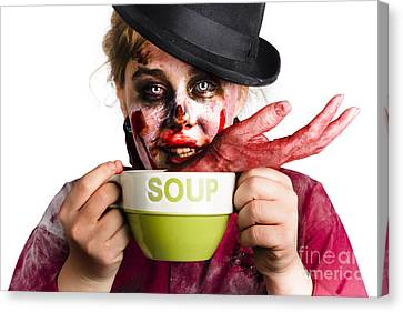 Zombie Woman Eating Hand Soup Canvas Print by Jorgo Photography - Wall Art Gallery