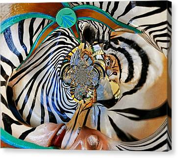 Zoo Animal Abstract Canvas Print by Marty Koch
