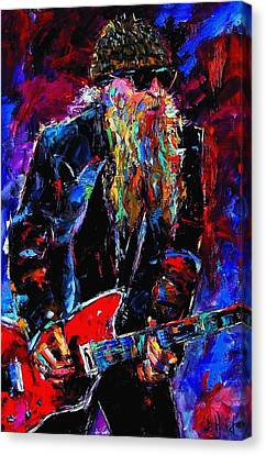 Zz Top Billie Gibbons Canvas Print by Debra Hurd