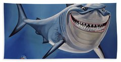 Finding Nemo Painting Hand Towel by Paul Meijering