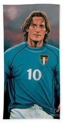 Francesco Totti Italia Hand Towel by Paul Meijering