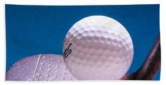 Golf Hand Towel by David and Carol Kelly