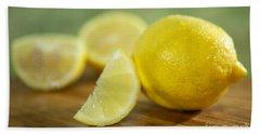 Lemon Citrus Limon Zitronen Hand Towel by Iris Richardson