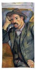 The Smoker Hand Towel by Paul Cezanne