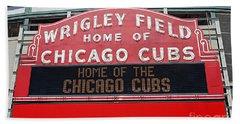 0334 Wrigley Field Hand Towel by Steve Sturgill