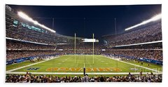 0587 Soldier Field Chicago Hand Towel by Steve Sturgill