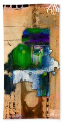 Atlanta Map Watercolor Hand Towel by Marvin Blaine
