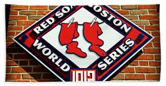 Boston Red Sox 1912 World Champions Hand Towel by Stephen Stookey