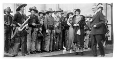 Cowboy Band, 1929 Hand Towel by Granger