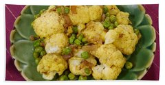 Curried Cauliflower Hand Towel by Science Source