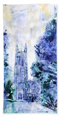 Duke Chapel Hand Towel by Ryan Fox