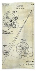 Fishing Reel Patent 1939 Hand Towel by Jon Neidert