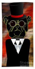 Going Somewhere Mr Bulldog Hand Towel by Marvin Blaine