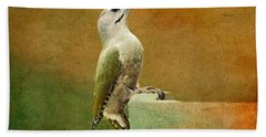 Grey-headed Woodpecker Hand Towel by Heike Hultsch