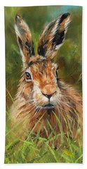 hARE Hand Towel by David Stribbling