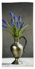 Hyacinth Still Life Hand Towel by Nailia Schwarz