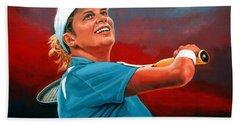 Kim Clijsters Hand Towel by Paul Meijering