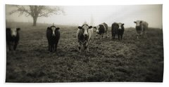 Livestock Hand Towel by Les Cunliffe