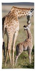 Masai Giraffe Giraffa Camelopardalis Hand Towel by Panoramic Images