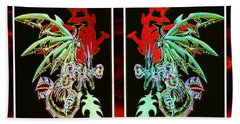 Mech Dragons Pastel Hand Towel by Shawn Dall