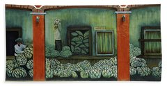 Mural On A Wall, Cancun, Yucatan, Mexico Hand Towel by Panoramic Images