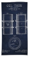 Oil Drum Patent Drawing From 1905 Hand Towel by Aged Pixel