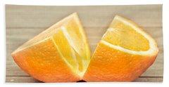 Orange Hand Towel by Tom Gowanlock