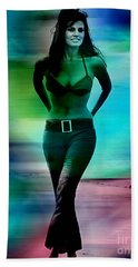 Raquel Welch Hand Towel by Marvin Blaine