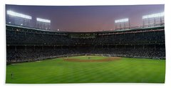 Spectators Watching A Baseball Match Hand Towel by Panoramic Images