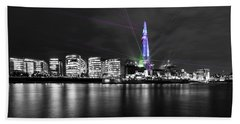 The Shard Lasers Hand Towel by Dawn OConnor