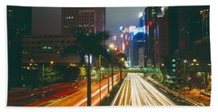Traffic On The Road, Hong Kong, China Hand Towel by Panoramic Images