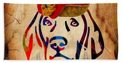 Weimaraner Collection Hand Towel by Marvin Blaine
