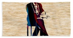 Bob Dylan Hand Towel by Marvin Blaine