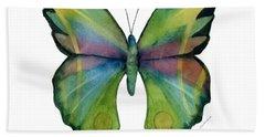 11 Prism Butterfly Hand Towel by Amy Kirkpatrick