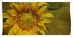 Sunflower Hand Towel by Cindi Ressler