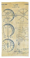 1929 Basketball Patent Artwork - Vintage Hand Towel by Nikki Marie Smith