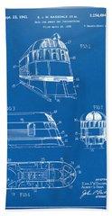 1941 Zephyr Train Patent Blueprint Hand Towel by Nikki Marie Smith