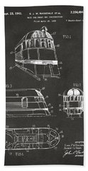 1941 Zephyr Train Patent Gray Hand Towel by Nikki Marie Smith