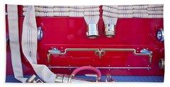 1952 L Model Mack Pumper Fire Truck Hoses Hand Towel by Jill Reger