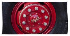 1952 L Model Mack Pumper Fire Truck Wheel Hand Towel by Jill Reger