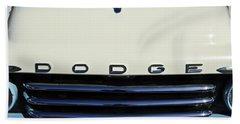 1958 Dodge Sweptside Truck Grille Hand Towel by Jill Reger